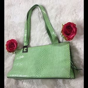 🌷Preloved🌷Guess🌷Mint Green EmbossedCroc Purse🌷